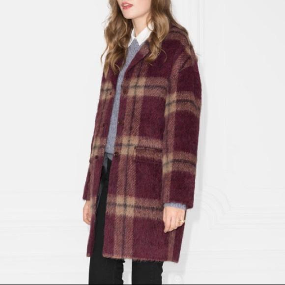 51d408304b 🖤Flash Sale 🖤—   Other Stories Plaid Alpaca Coat